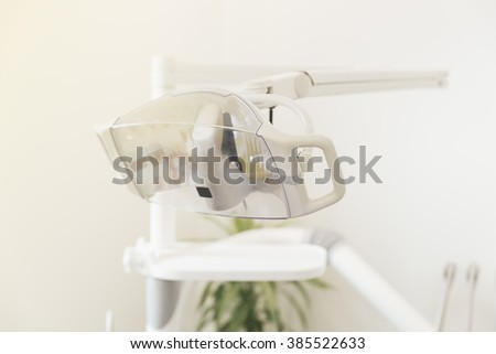 Dental tools in dental clinic. Dentist Concept. - stock photo