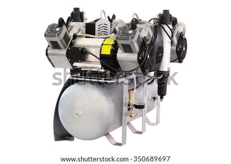 Dental vacuum pump - stock photo