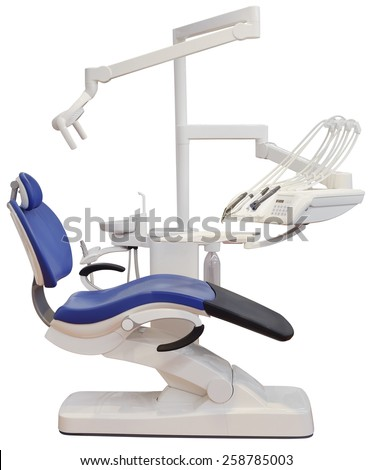 Dentist Chair Isolated with Clipping Path - stock photo