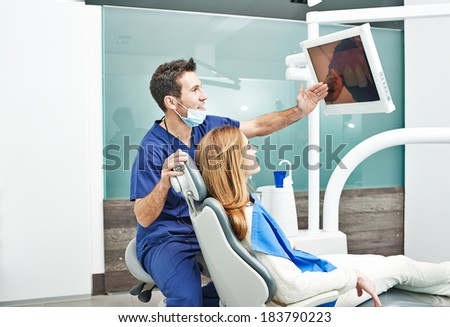 Dentist surgery. Photos taken in a real surgery. - stock photo