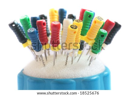 Dentist tools on the table. - stock photo