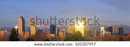 Denver, Colorado skyline - stock photo