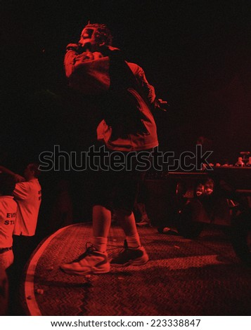 DENVERMARCH 03:Rapper  Shaggy 2 Dope of the Horrorcore Rap band Insane Clown Posse performs in concert March 3, 2000 at the Ogden Theater in Denver, CO. - stock photo