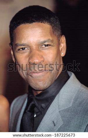 Denzel Washington at the GQ Men of the Year Awards, NY 10/16/2002 - stock photo