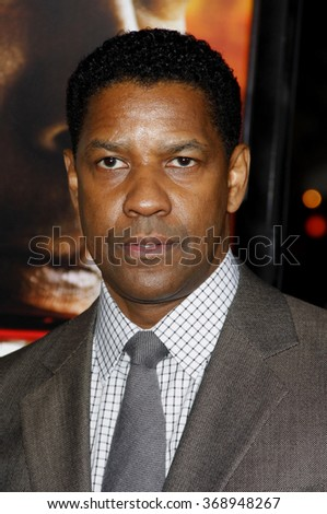 "Denzel Washington at the Los Angeles Premiere of ""Unstoppable"" held at the Westwood Village Theater in Hollywood, California, United States on October 26, 2010.   - stock photo"
