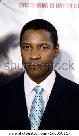 Denzel Washington at the premiere of THE MANCHURIAN CANDIDATE, July 22, 2004 in Beverly Hills, CA - stock photo