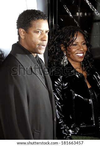Denzel Washington, Paulette Washington at AMERICAN GANGSTER Los Angeles Premiere, ArcLight Hollywood Cinema, Los Angeles, CA, October 29, 2007 - stock photo
