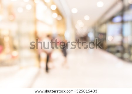 department store background blur - stock photo