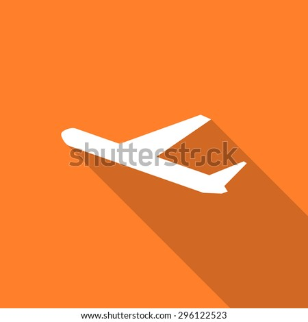 deparures flat design modern icon with long shadow for web and mobile app - stock photo
