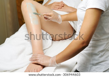 depilation - stock photo