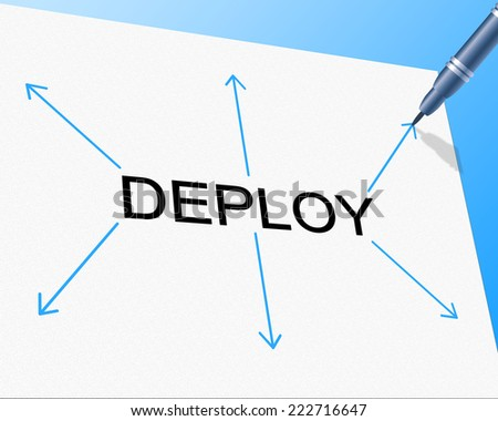 Deploy Deployment Showing Put Into Position And Spread Out - stock photo