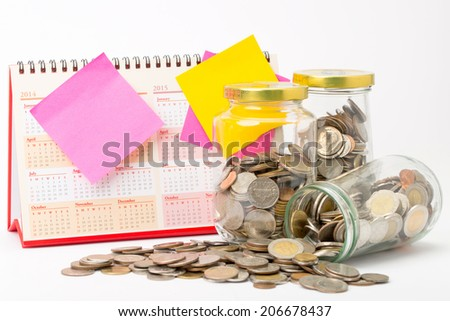 Deposit money for investment in the future - stock photo