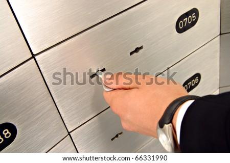 deposit safe - stock photo