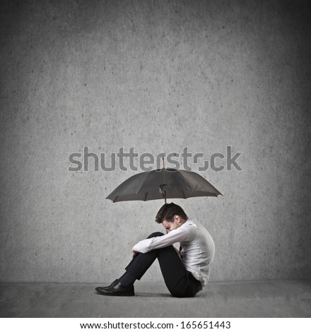 Depressed - stock photo