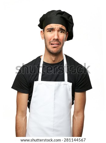 Depressed chef - stock photo