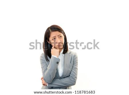 Depressed women. - stock photo