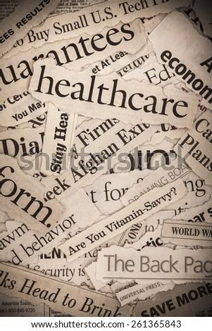 Depressing Headlines 2009 - stock photo