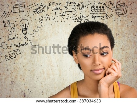 Depression. - stock photo