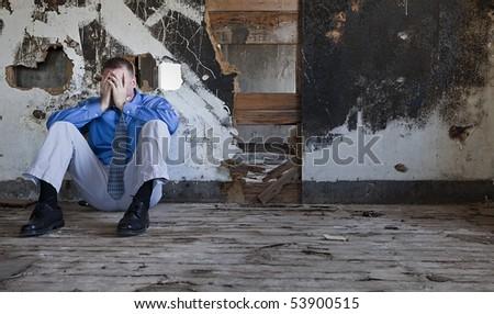 Depression and Sadness - stock photo