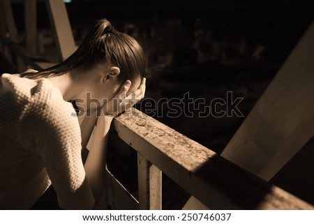 Depression, pain, suffering  - stock photo