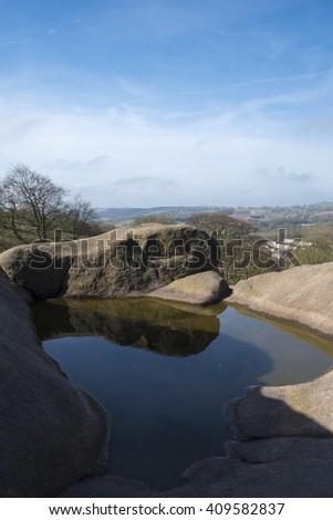 Derbyshire View  - stock photo