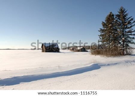 Derelict building in Alberta Canada - stock photo