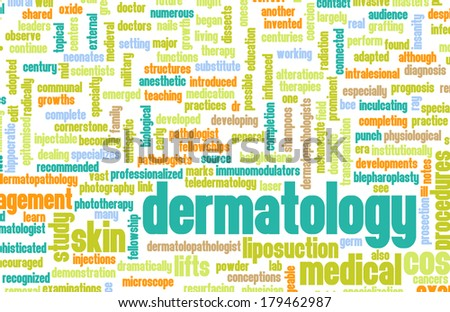 Dermatology Medical Study of Skin and Diseases - stock photo