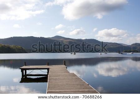 Derwent water harbour, Lake District - stock photo