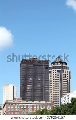 Des Moines Iowa Downtown Skyline - stock photo
