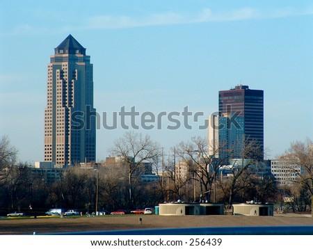 Des Moines skyline - stock photo
