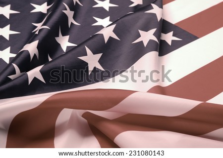 Desaturated picture of the USA flag - stock photo