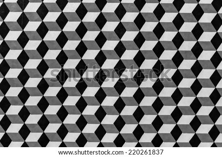 Description:  Geometric design as photographed in black and white Title:  Black and white monochrome geometric background. - stock photo