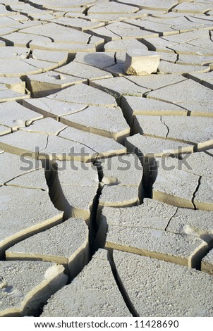 Desert and clay in West China - stock photo
