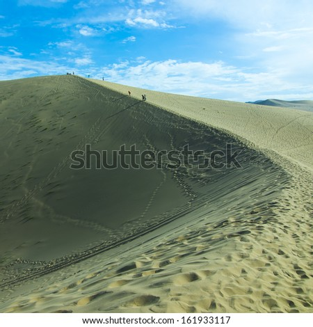 Desert Climbing - stock photo