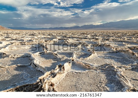 Desert, Death Valley,  Lake Badwater - stock photo