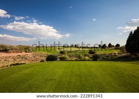 Desert Golf Course - stock photo