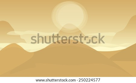 Desert illustration - stock photo