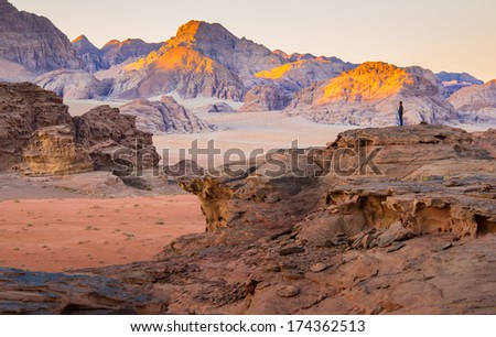 Desert in a morning - stock photo