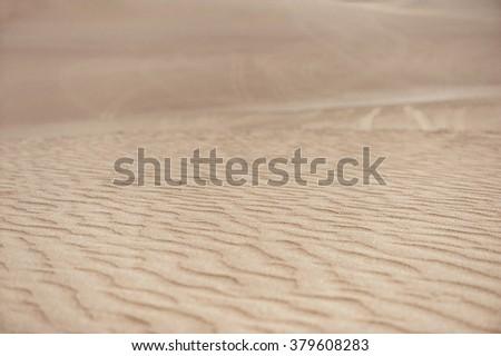 Desert in Huacachina, Peru. Closeup dunes - stock photo