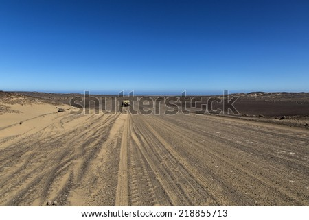 Desert in Namibia, Africa - stock photo