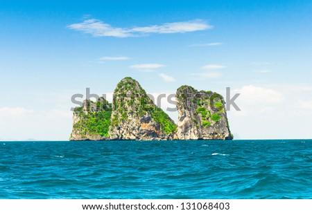 Desert Island Exotic Getaway - stock photo