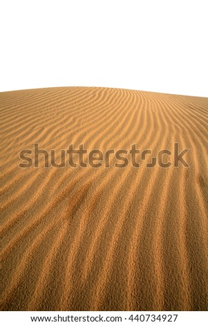 desert isolated for copy space - stock photo