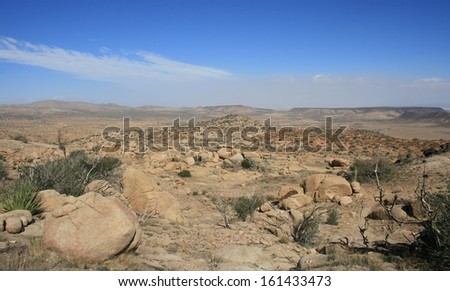 Desert landscape, California - stock photo