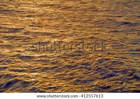 desert landscape in evening light  - illustration based on own photo image - stock photo