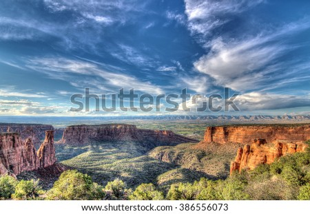 Desert Landscape in southwest Colorado - stock photo