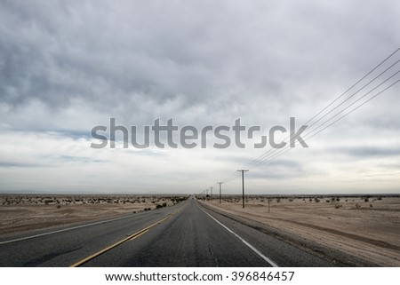 Desert Landscape in the Anza-Borrego Desert, California,  USA - stock photo