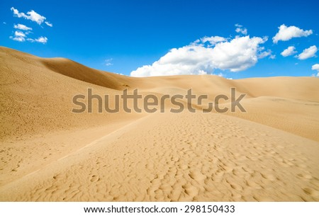 Desert Landscape of Great Sand Dunes National Park - stock photo