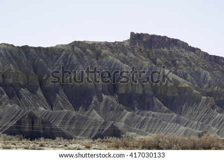Desert landscape of stone   rock  from   Southern Utah, for background or texture - stock photo