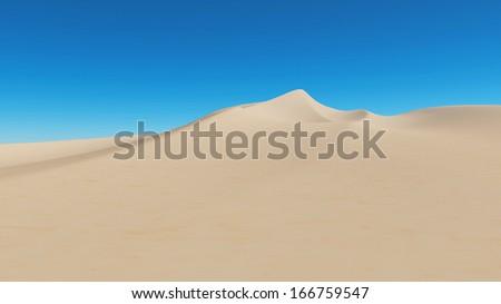 desert on a background of blue sky - stock photo