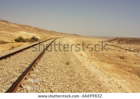 Desert Railroad - stock photo